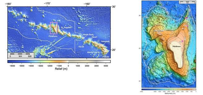 Localización del Puhahonu (UH / GM)